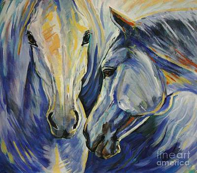 Equestrian Art Painting - Sun And Sea by Silvana Gabudean Dobre