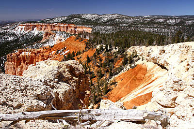 Photograph - Sun And Snow Bryce Canyon by Butch Lombardi