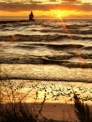 Water Filter Photograph - Sun And Surf Rising by Bill Pevlor