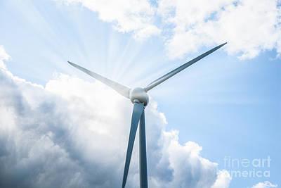 Crop Rotation Wall Art - Photograph - Sun And Turbine by Shaun Wilkinson
