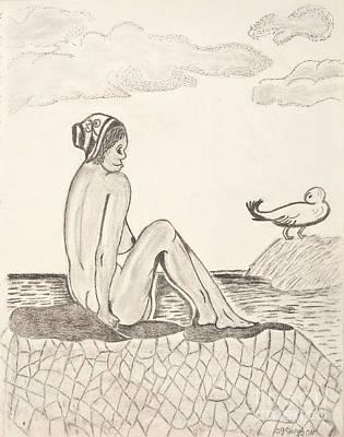 Sun Bathing Art Print