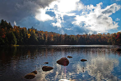 Photograph - Sun Breaking Through Over Cary Lake by David Patterson