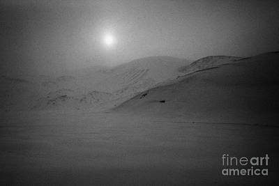 sun breaking through white out snowstorm whalers bay deception island Antarctica Art Print