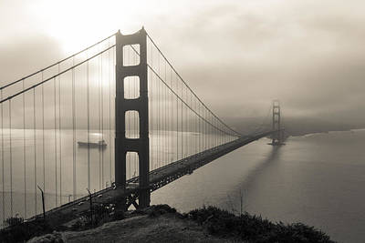 Photograph - Sun Breaks Through Over Golden Gate by Scott Rackers