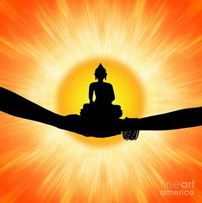 Of Gods Sunshine Photograph - Sun Buddha by Tim Gainey