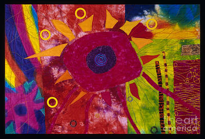 Tapestry - Textile - Sun Burst by Susan Rienzo