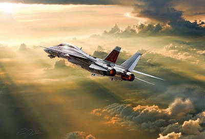 Fighters Digital Art - Sun Catcher Tomcat by Peter Chilelli