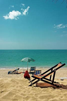 Lounge Chair Photograph - Sun Chair On The Beach by Kieran Stone