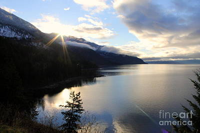Photograph - Sun Coming Over The Mountain by Leone Lund