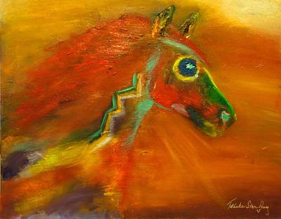 Art Print featuring the painting Sun Dance by Barbie Batson