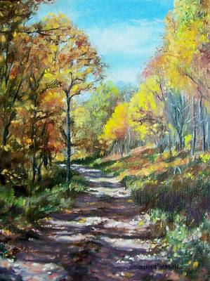 Painting - Sun Dappled Path by Bonnie Mason