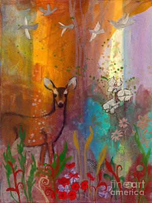 Sun Deer Art Print