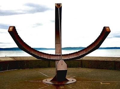 Photograph - Sun Dial At Ruston Way Tacoma Wa by Sadie Reneau