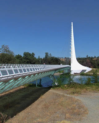 Photograph - Sun Dial Bridge 2 by Ron Roberts
