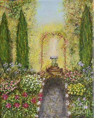 Rambling Painting - Sun Dial Garden by William Ohanlan