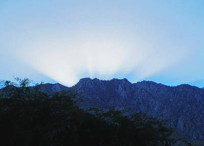 Photograph - Sun Disappears Behind Mount San Jacinto by Randall Weidner
