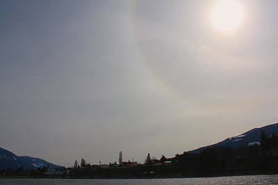 Photograph - Sun Dog Over Town by Cathie Douglas