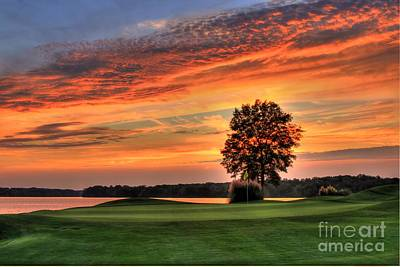 Golf Art Photograph - Sun Drenched The Landing Reynolds Plantation Golf Art by Reid Callaway