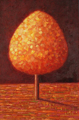 Park Scene Painting - Sun Drenched Tree by Peter Davidson