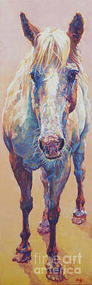 Horse Painting - Sun Drop by Patricia A Griffin