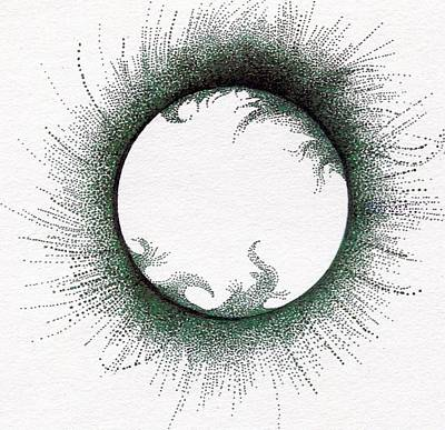Pointalism Drawing - Sun by Dyana Schoenstadt