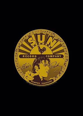 Johnny Cash Digital Art - Sun - Elvis Full Sun Label by Brand A