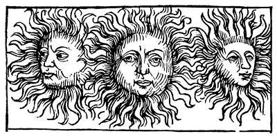 Sun Faces, Decorative Print by Granger