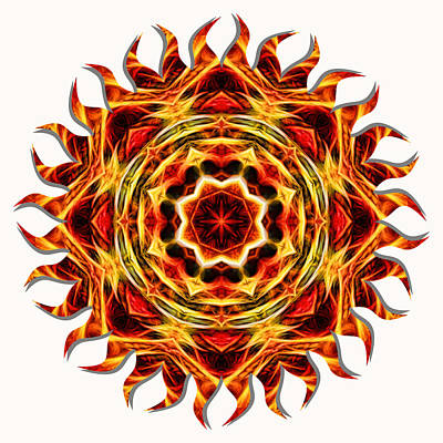 Photograph - Sun Fire Mandala by Beth Sawickie