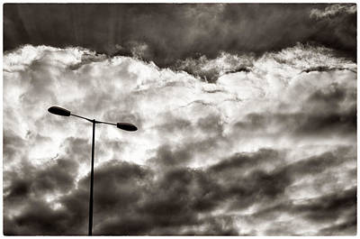 Photograph - Sun Flair Through The Clouds On A Driving Trip by Lenny Carter