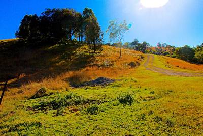 Photograph - Sun Flare Makes Hill Glow by David Rich