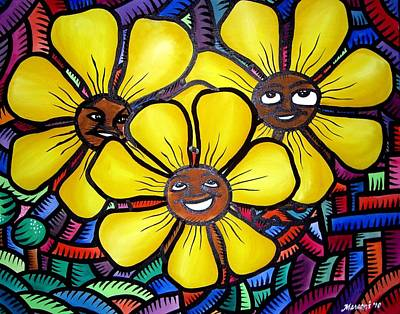 Sun Flower And Friends Manila  2010 Art Print