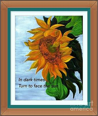 Painting - Sun Flower by Denise Tomasura