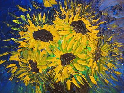 Flower Painting - Sun Flower Fever by Rachael Pragnell
