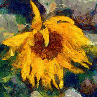 Digital Art - Sun Flowering 6 by Yury Malkov