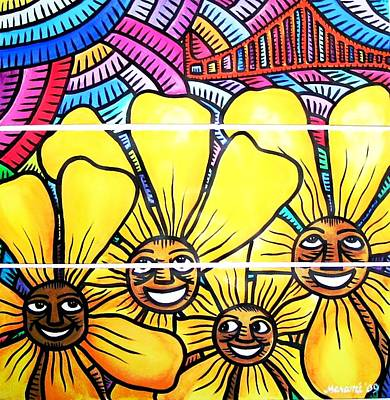 Sun Flowers And Friends Sf 1 Art Print