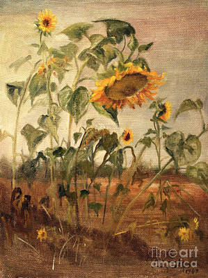 Painting - Sun Flowers by Art By Tolpo Collection