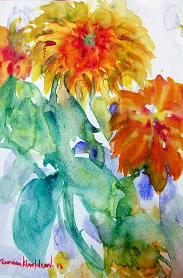 Painting - Sun Flowers by Wanvisa Klawklean