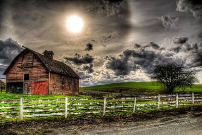 Barn Photograph - Sun Gazing Upon An Old Barn by Derek Haller