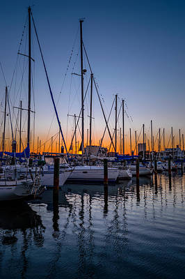 Photograph - Sun Glow At The Marina by Leticia Latocki