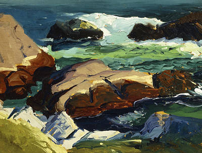 Nature Scene Painting - Sun Glow by George Wesley Bellows