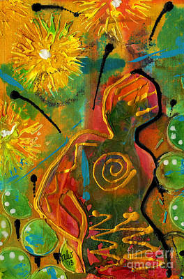 Painting - Sun Goddess by Angela L Walker