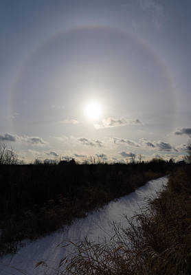 Phantom Dog Photograph - Sun Halo - A Beautiful Optical Phenomenon by Georgia Mizuleva