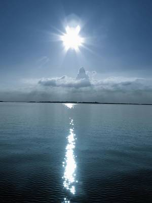 Photograph - Sun In Blue by Daniel Chowdhury