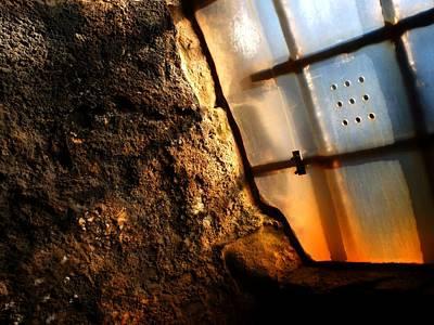 Sun In The Castle Window Art Print by Anne Macdonald