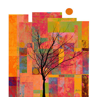 Color Block Mixed Media - Sun In The City - Abstract - Art  by Ann Powell