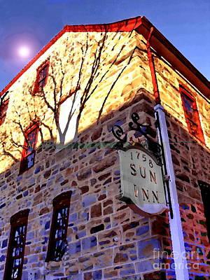 Photograph - Sun Inn Bethlehem Pa by Jacqueline M Lewis
