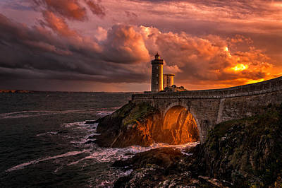 Lighthouse Photograph - Sun Is Down by Denis