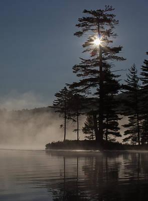 Sun Is Up At The Lake Art Print