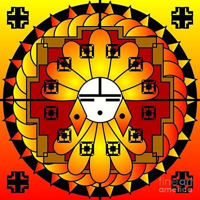 Digital Art - Sun Kachina 2012 by Kathryn Strick