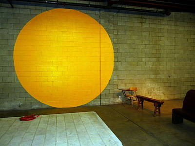 Photograph - Sun Lemon Orange Circle by Jeff Lowe